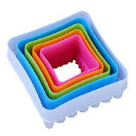 Double-Sided Cookie Cutter Set /5 - Square/Scallop