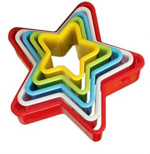 Star Nesting Plastic Cookie Cutter Set of 5