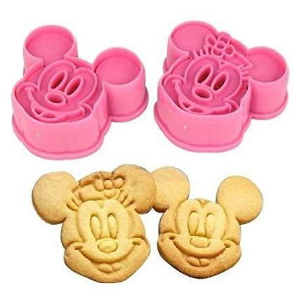 Mickey & Minnie Cutter/Embosser Set of 2