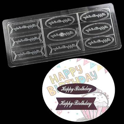 Happy Birthday Chocolate Mold