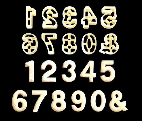 Numeric Cookie Cutters