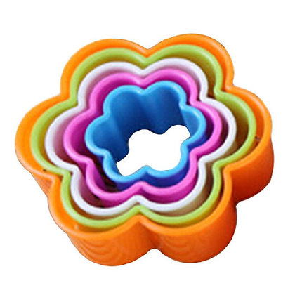 Floral Nesting Plastic Cookie Cutter Set of 5
