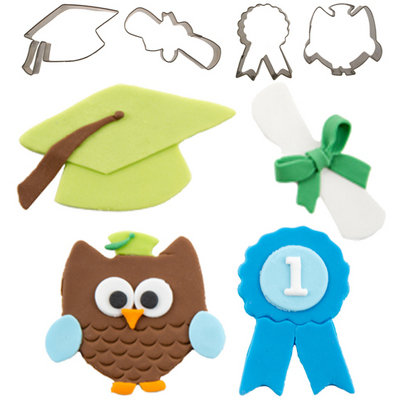 Cutie Cupcake Cutters, Graduation Set/4