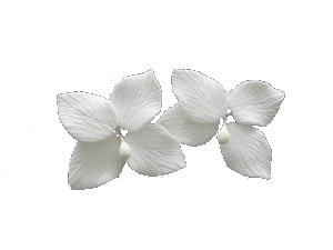 Hydrangeas, White 1.75 inch 7 pcs