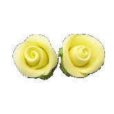 Rosebuds, Yellow 2cm 16 pcs
