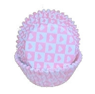 Pink Heart Cupcake Liners, 50/pack