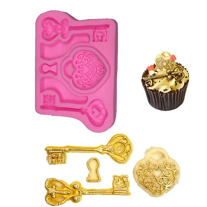 Key & Lock Silicone Mold