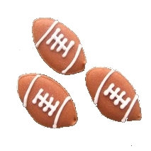 Football, Brown 12 pcs