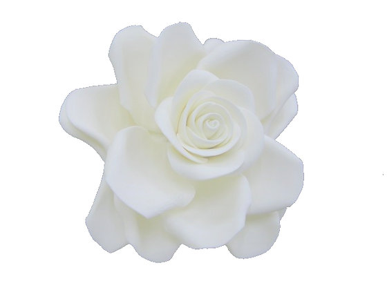 Giant Rose, White 5 inch
