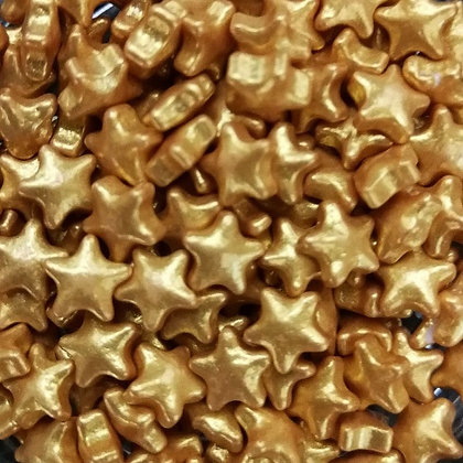 Metalic Gold Sugar Stars. 80g