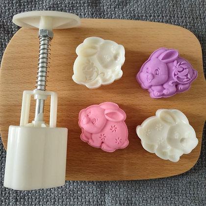 3D Bunny Figurine 公仔饼 Mold Set of 2 designs (50g)