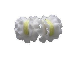 Sweet Peas, White 1.25 inch 16 pcs