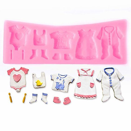 Baby Clothes Washing Line Silicone Mold