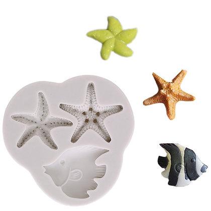 Star Fish & Angel Fish Silicone Mold