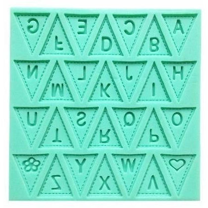Flag Shaped Alphabet Mold