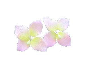 Hydrangeas, Pink 1.75 inch 7 pcs