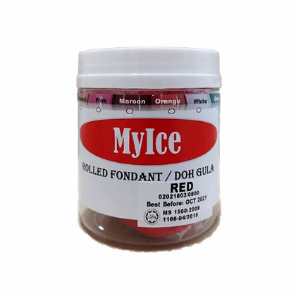 MyIce Rolled Fondant, 300g Red