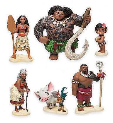 Disney's Moana Figurine Cake Topper Set of 7