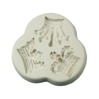3 cavity Crown Silicone Mold