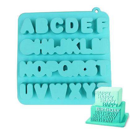 Large Alphabet Silicone Mold