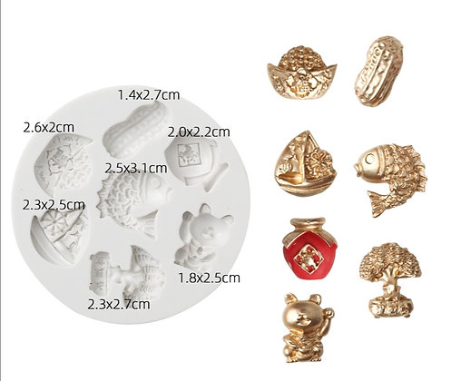 Chinese Auspicious Items Silicone Mold