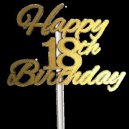 'Happy 18th' Birthday Cake Topper