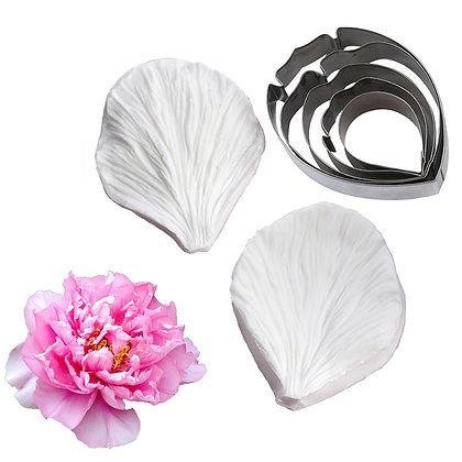 Peony Petal Cutters set of 5 (Veiner not included)