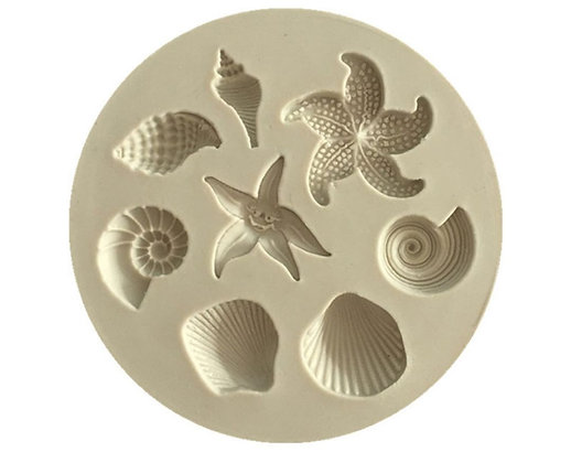 Biological Ocean themed Silicone Mold, 6.7cm