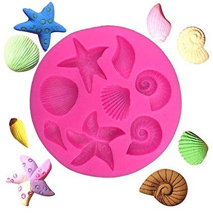 Seashell Silicone Mold, 8.3 cm