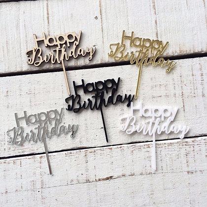 Happy Birthday Tiny Toppers - 5 pcs