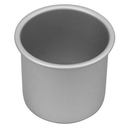 """4"""" / 10cm aluminium cake pan - 3"""" deep"""