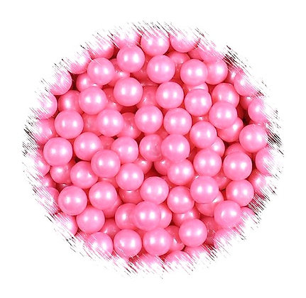 7mm Pink Pearlised Sugar Beads 80g