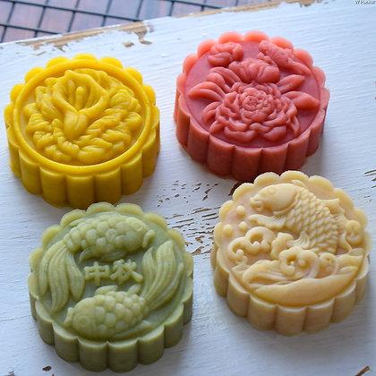 Mooncake Mold Set of 4 designs (75g)