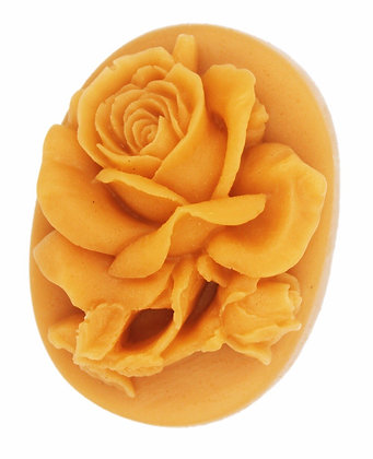 3D Rose with Leaf Silicone Mold