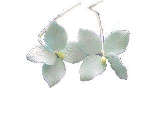 Hydrangeas, Blue 1.75 inch 7 pcs