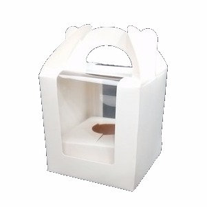 Cupcake Box Single with window, with handle