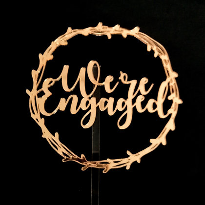 'We're Engaged' Cake Topper