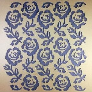 Classic Rose Stencil