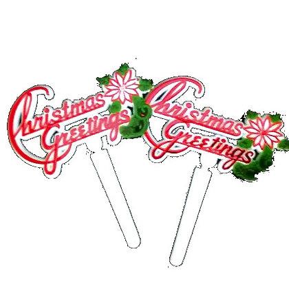 'Christmas Greetings' Picks 5 pcs