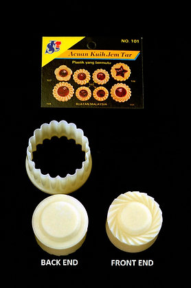 Pineapple Tart Mold No. 101, Double-Ended