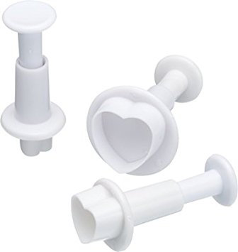 Heart Plunger Cutter Set of 3