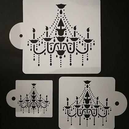 Chandelier Stencils Set of 3