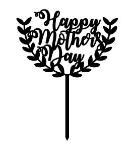 'Happy Mother's Day' Cake Topper
