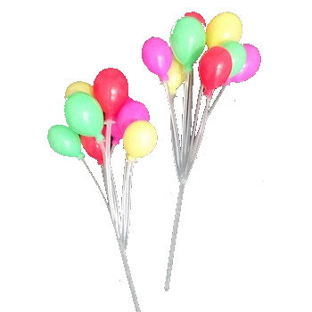 Multicolored Balloon Cluster Picks 5 pcs