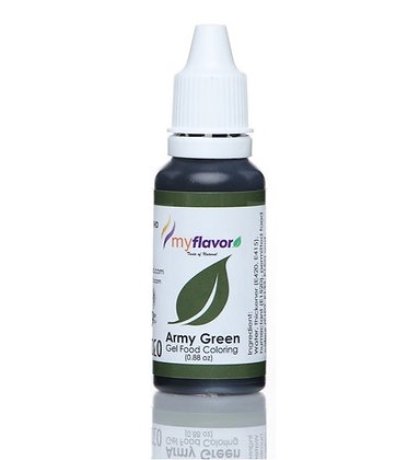 My Flavor Gel Paste Colour  0.88oz - Army Green