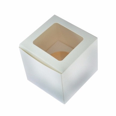 Cupcake Box Single with window, without handle