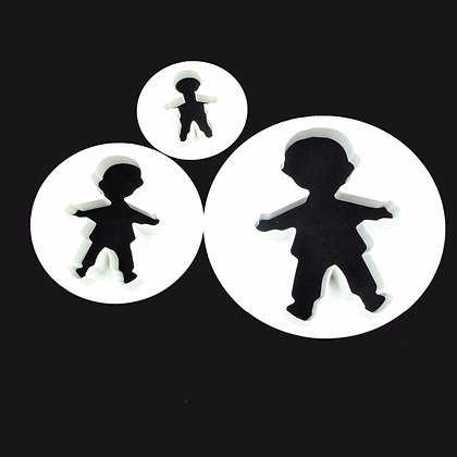Little Boy Cookie Cutter Set of 3