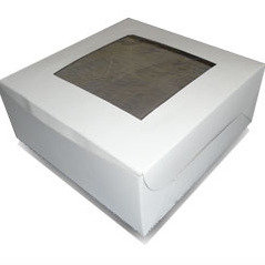 Cake Box, Square with Window 10 x 5(H) inch