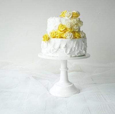 Cake Stand, White 25 cm