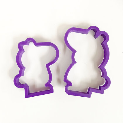 Peppa Pig Cookie Cutter, Set of 2